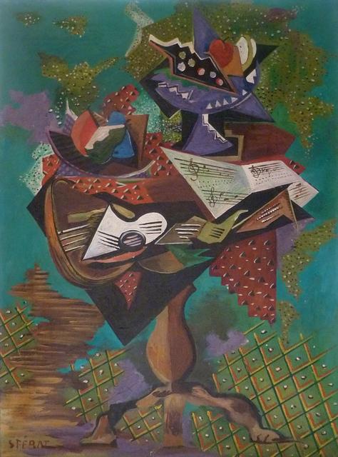 Serge Férat, 'Still Life with Guitar and Gueridon', ca. 1945, Gilden's Art Gallery