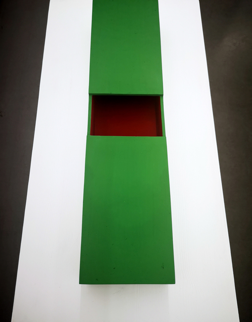 Kennet Williamsson, 'I THINK ABOUT WHAT DONALD JUDD THINKS ABOUT', 2019, Sculpture, Stoneware, paint, Berg Gallery
