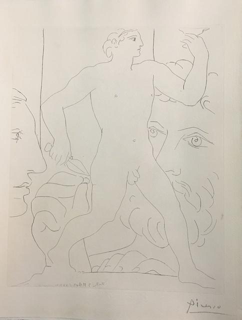 """Pablo Picasso, 'Sculpture d'un Jeune Homme à la Coupe - from """"La Suite Vollard""""', 1933, Wallector"""
