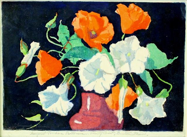 Margaret Jordan Patterson, ca. 1925, Print, Color woodcut on wove japanese paper, Catherine E. Burns Fine Prints