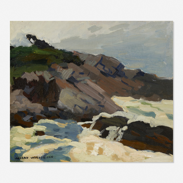 Vaclav Vytlacil, 'Monhegan Surf', 1915, Painting, Oil on canvas laid to board, Rago/Wright