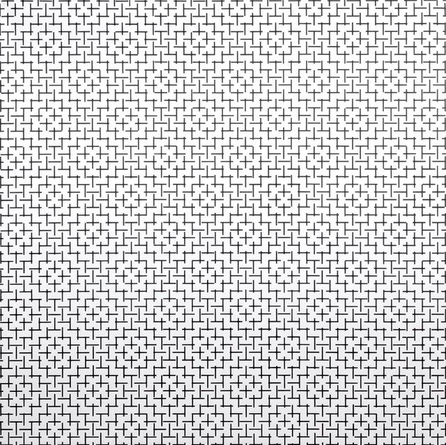 , '2 Trames de petits tirets 0º 90º,' 1973, The Mayor Gallery