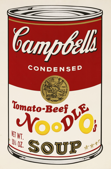 , 'Tomato-Beef Noodle O's, From Campbell's II (F.&S.II.61),' 1969, Maddox Gallery
