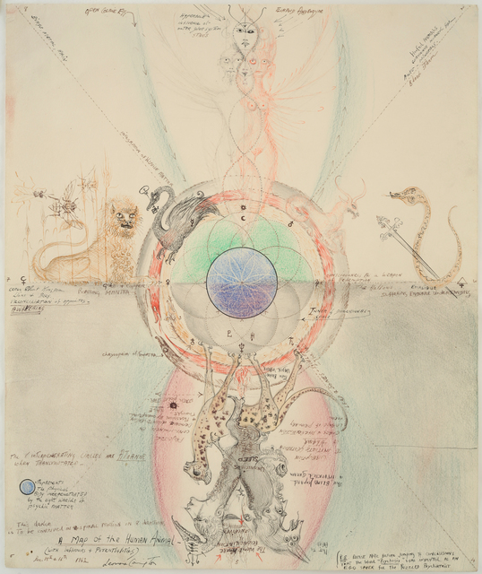 Leonora Carrington, 'A Map of the Human Animal', 1962, Gallery Wendi Norris