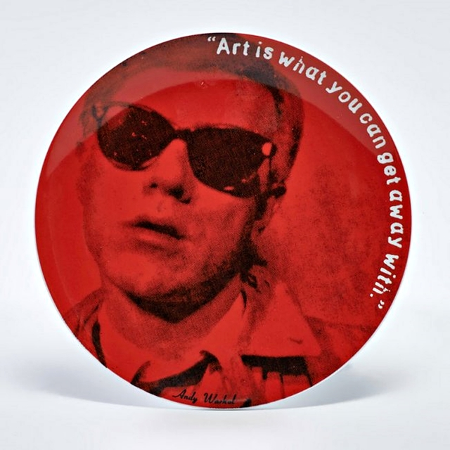 Andy Warhol, 'Set of Four Limited Edition Self Portrait Plates for Rosenthal in Original Box ', ca. 1991, Design/Decorative Art, Four Porcelain Plates - Numbered and Plate Signed in Blue Rosenthal Box, Alpha 137 Gallery
