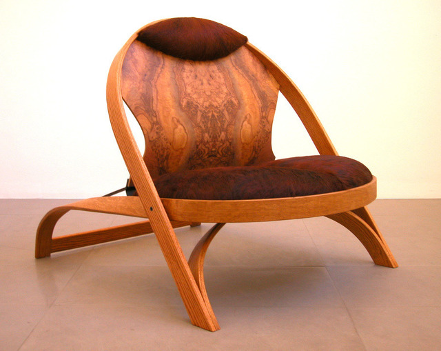 Richard Artschwager, 'Chair/Chair', 1987-1990, Design/Decorative Art, Red oak, formica, cowhide and painted steel, Xavier Hufkens
