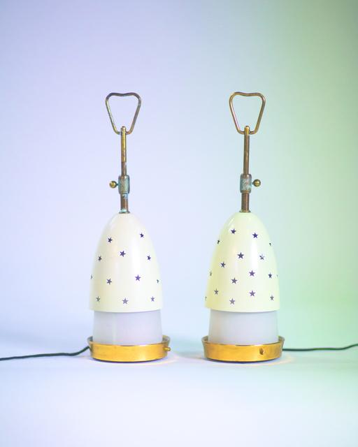 Angelo Lelli, 'Pair of table lamps (Stelline)', vers 1950, Leclere