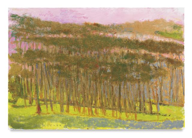 Wolf Kahn, 'Three Tree Rows', 2017, Tayloe Piggott Gallery