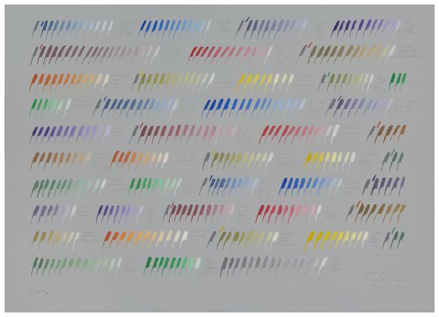 , 'From gray towards white three times through the chromatic circle,' 1977, Herlitzka + Faria