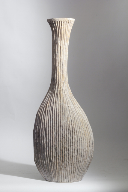 Malcolm Martin and Gaynor Dowling, 'WHITE RIBBED VESSEL', 2016, Traver Gallery