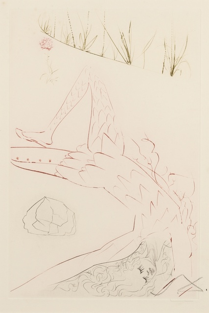 Salvador Dalí, 'Tristan Wounded (from Tristan and Iseult) (M & L 411; Field 70-10-G)', 1970, Forum Auctions