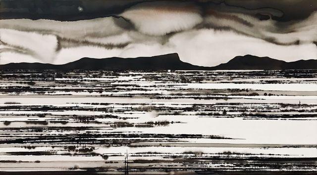 David Middlebrook, 'Northern Star, Central Australia', 2018, Painting, Ink on canvas, Art Atrium
