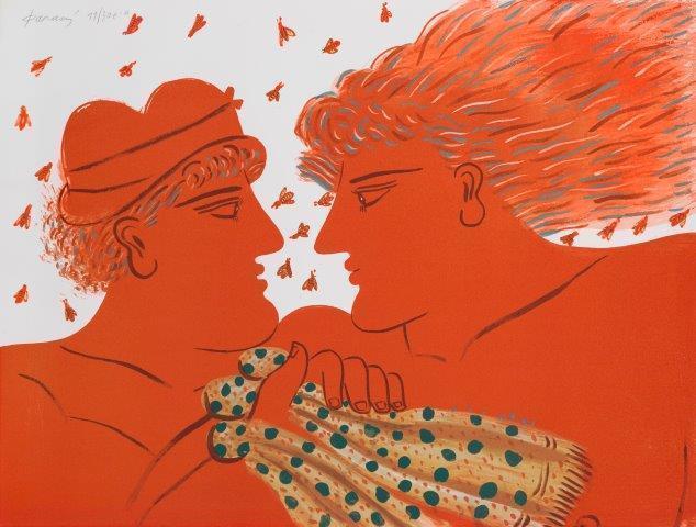 Alekos Fassianos, 'Untitled (two figures)', Roseberys