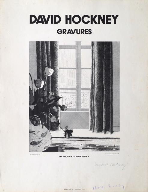 David Hockney, 'Rue de Seine, Sunbather, and Landscape with Trees (three works)', 1971, Roseberys