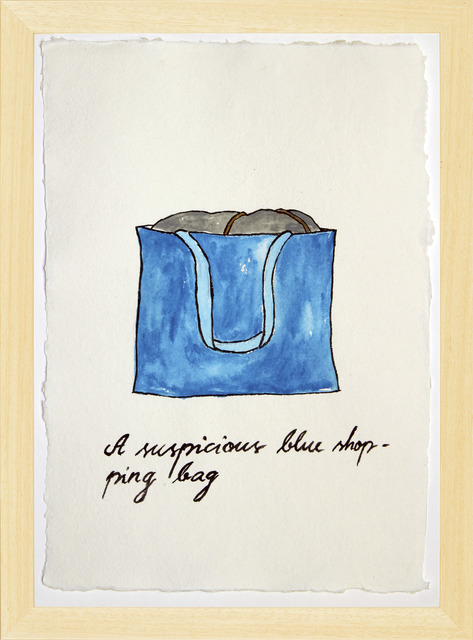 , 'Suspicious Bags: Blue Shopping Bag,' 2018, Temnikova & Kasela
