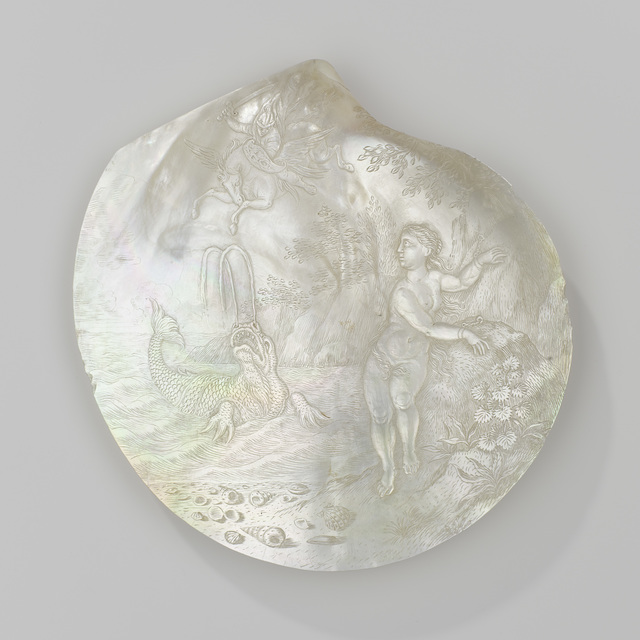 , 'Oyster shell with the liberation of Andromeda,' 1660-1700, Rijksmuseum