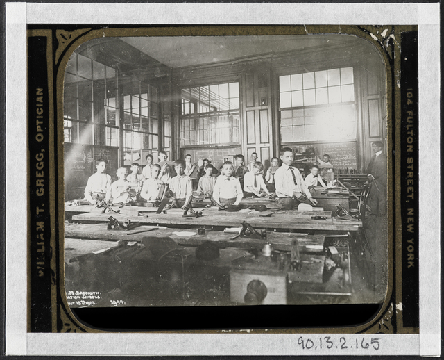 Jacob A. Riis, 'Manual Training Class, Public School', 1902, Museum of the City of New York