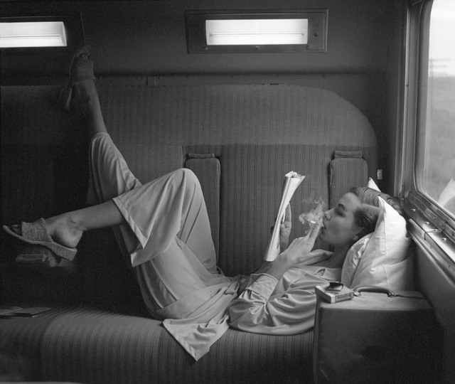 , 'Southwest Passage - Sunset Pink: Model in pajamas by Kickernick, Harper's Bazaar,' 1951, Edwynn Houk Gallery