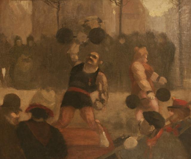 , 'The Strongmen - Weightlift - Body Building,' ca. 1900, Omnibus Gallery
