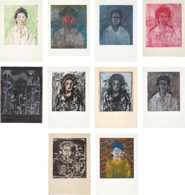 Jim Dine, 'Nancy Outside in July I; XIII-XIV; XVII; XIX-XXIV', 1978; and 1981, Phillips