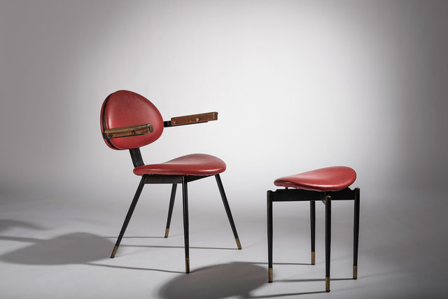 , 'Chair and ottoman,' 1959, Casati Gallery