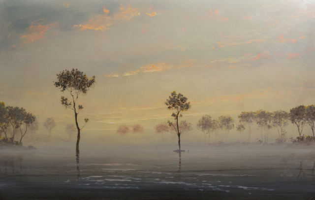 Stephen Hannock, 'Flooded River: At the End of the Day', 2000, Painting, Polished oil on canvas stretched over panel, Taylor | Graham