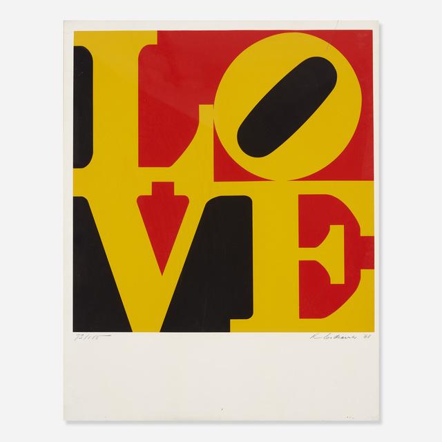 Robert Indiana, 'German Love', 1968, Print, Screenprint on paper, Rago/Wright