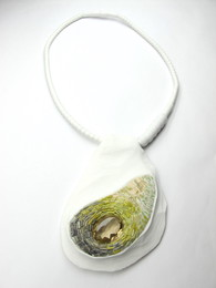Grey and Yellow Necklace with Citrine