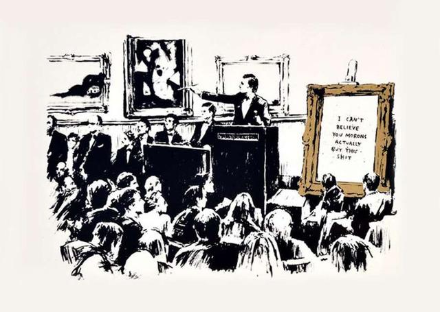 Banksy, 'Morons', 2006, Hexagon Gallery