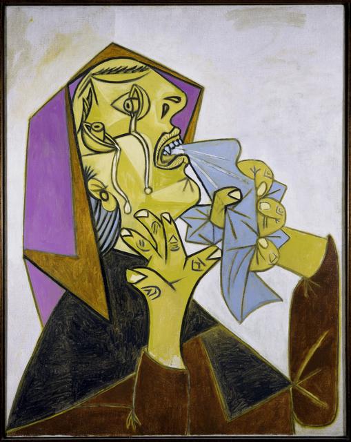 Pablo Picasso, 'Cabeza de mujer llorando con pañuelo (III). (Weeping Woman's Head with Handkerchief [III].)', 1937, Museo Reina Sofía