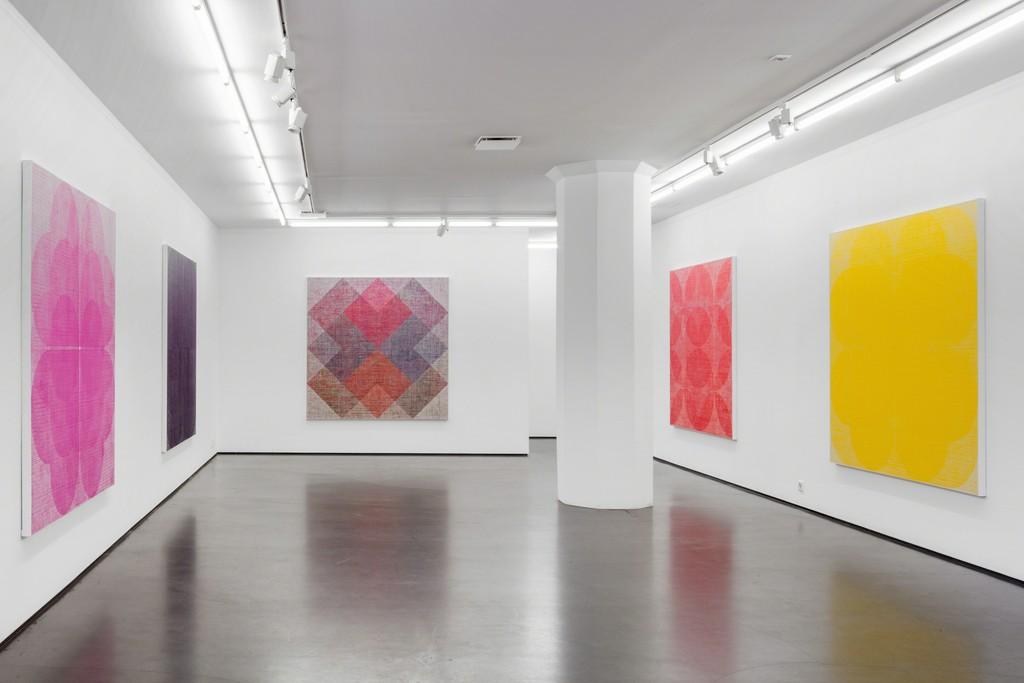 Installation view, Sonja Larsson, Unfold, 2018, photo: Jean-Baptiste Beranger