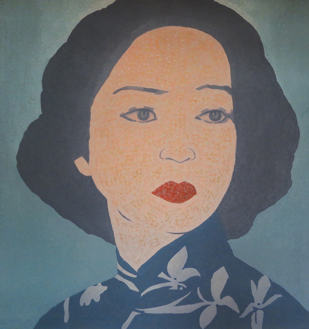 Junqing Wu, 'Blue Lady', 2005, Walter Wickiser Gallery