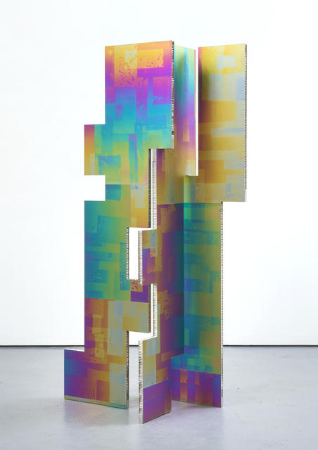 , 'A parliament of some things (Additive and Subtractive Sculpture, Titanium Screen, Panels 6, 7, 8),' 2014, Almine Rech