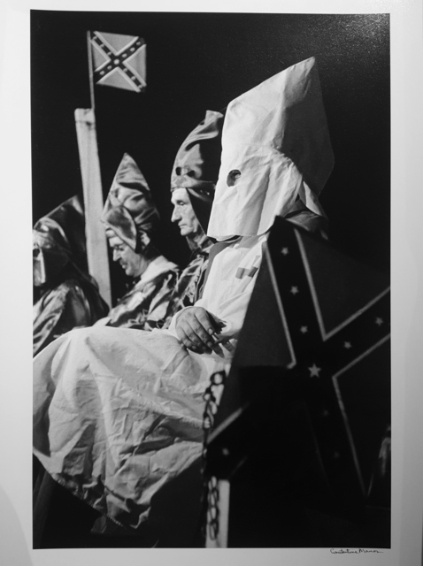 Constantine Manos, 'Ku Klux Klan (klansmen seated with flags), Columbia, South Carolina,', 1952, Robert Klein Gallery