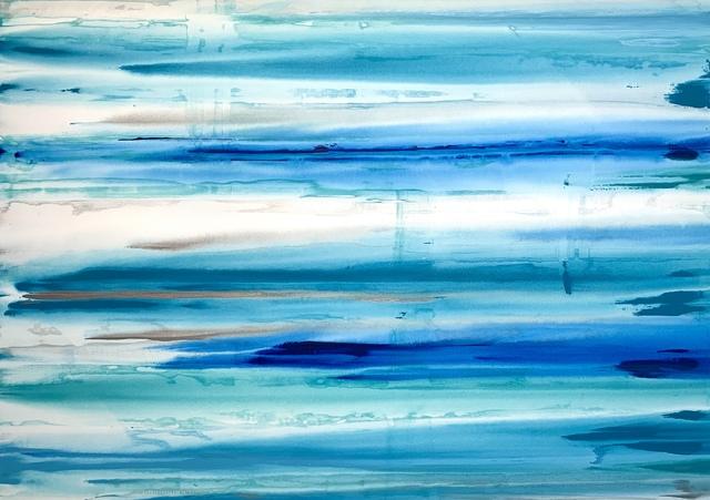 Erik Skoldberg, 'Erik Skoldberg, Marine, Aqua, Metallics Diffused', 2019, Oliver Cole Gallery