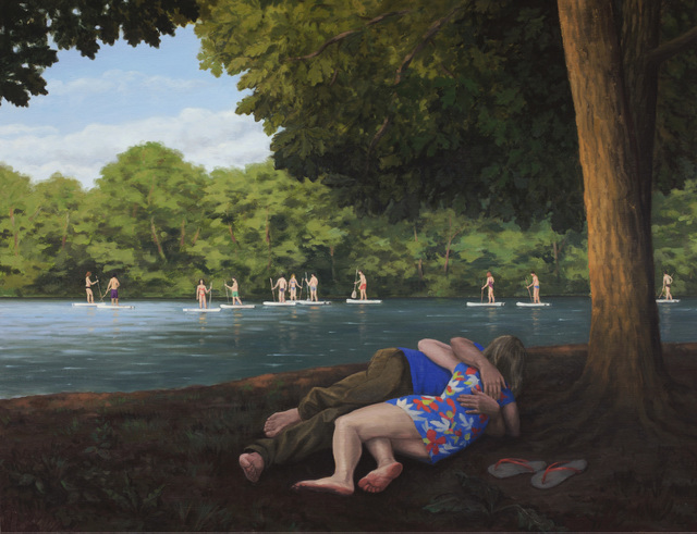 , 'Satyr and Nymph at Schlachtensee,' 2016, David Nolan Gallery