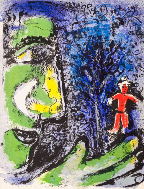 Marc Chagall, 'Le Profil et L'Enfant Rouge (Profile and Red Child)', 1960, Print, Original lithograph printed in colors on wove paper., Galerie d'Orsay