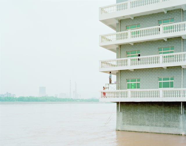 , 'Two Men Painting a House in the River, Gansu,' 2011, Robert Mann Gallery