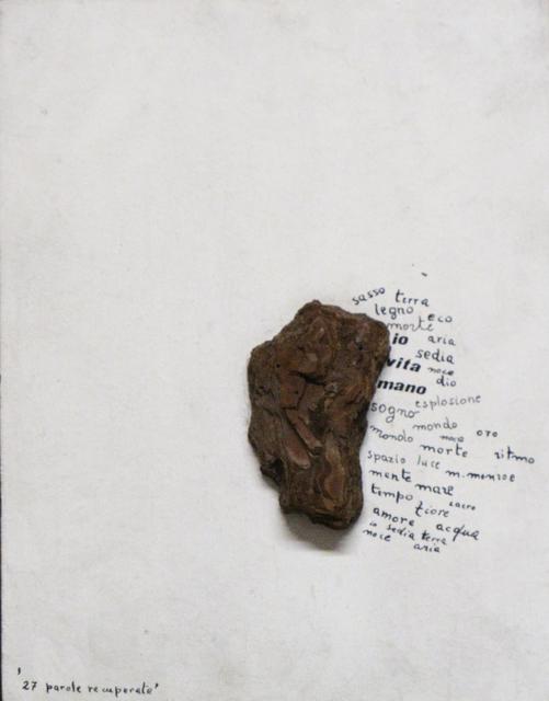 , '27 Parole recuperate,' 1969, Galleria Clivio