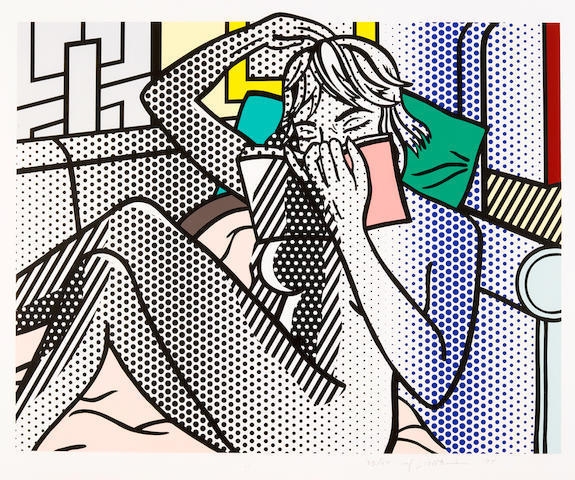 Roy Lichtenstein, 'Nude Reading, from the Nude Series (C. 288)', 1994, Print, Relief print, on Rives BFK mold-made paper, David Benrimon Fine Art
