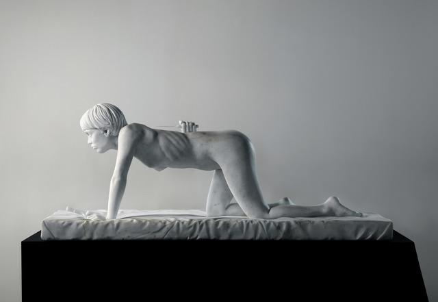 , 'Isabelle Schiltz as crawling figure,' 2010, Annie Gentils