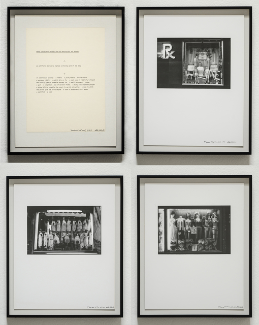 , 'Prosthesis/Coney: Three Consecutive Frames and Two Definitions for Martha,' 1975, Christopher Grimes Gallery
