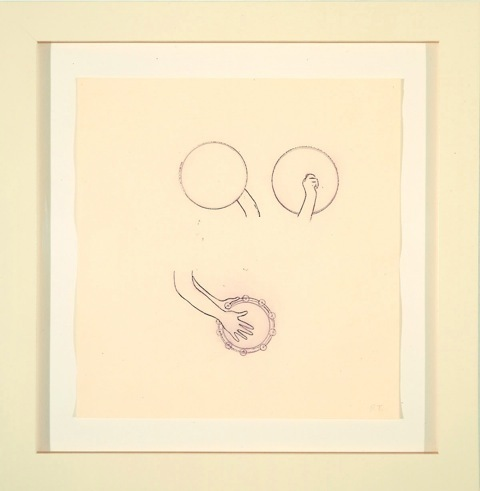Robert Therrien, 'No title (Purple hand with tambourines)', 2000, Lora Reynolds Gallery