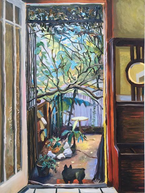 Thomas John Carlson, 'NOLA Backyard', 2016, Painting, Oil on panel, Deep Space Gallery