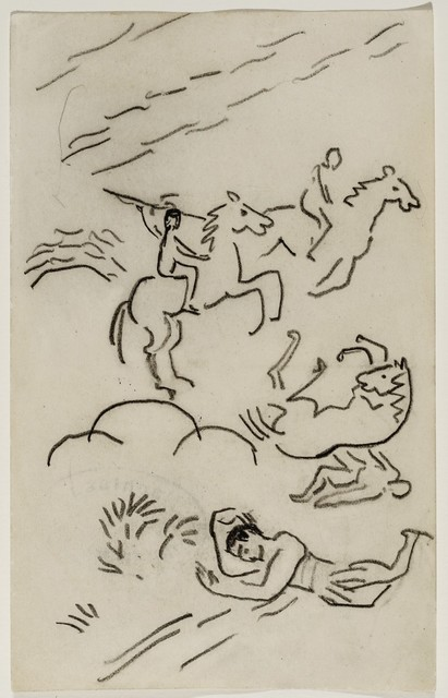 , 'Riding javelin throwers,' 1911, Galerie Thomas