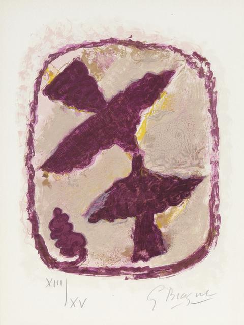 Georges Braque, 'Les Oiseaux Fulgrants, from Lettera Amorosa', 1963, Print, Color lithograph, Heather James Fine Art Gallery Auction