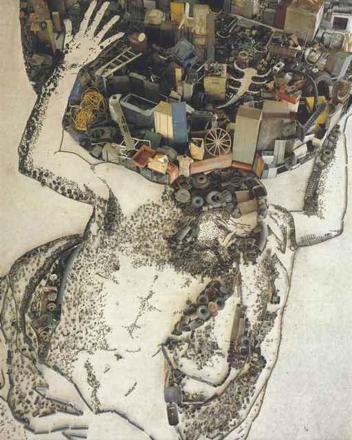 Vik Muniz, 'Atlas, after Giovanni Francesco Barbieri (Il Guercino) (Pictures of Junk)', 2007, Corridor Contemporary
