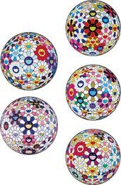 Takashi Murakami, 'Flower Ball (3-D) Sequoia sempervirens; Flower Ball (Lots of Colors); Flowerball sexual Violet No. 1 (3D); Right There, The Breadth of the Human Heart; and Flower Ball (3-D) Autumn 2004,' 2013, Phillips: Evening and Day Editions
