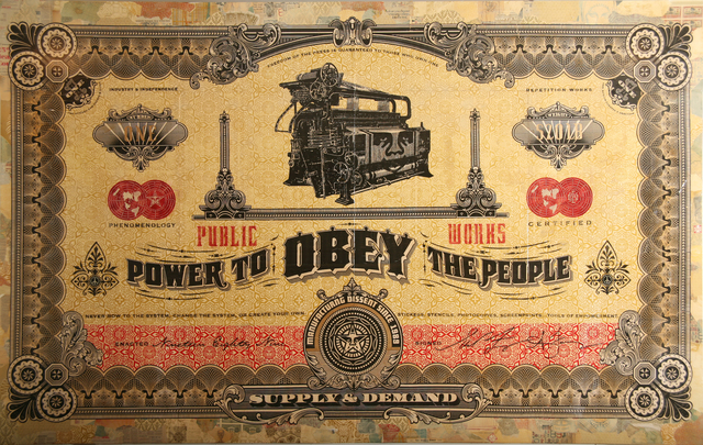 Shepard Fairey, 'Two Sides of Capitalism: Good', 2007, Jonathan LeVine Projects