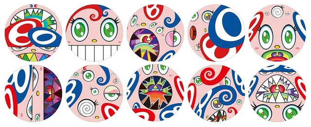 Takashi Murakami, 'WE ARE THE SQUARE JOCULAR CLAN PRINT SET OF 10 CIRCLE PRINTS ', 2018, Print, Offset print, with silver and high gloss varnishing, Dope! Gallery